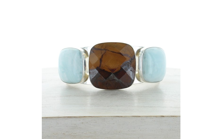 Desert Sunset & Blue Aragonite Cuff