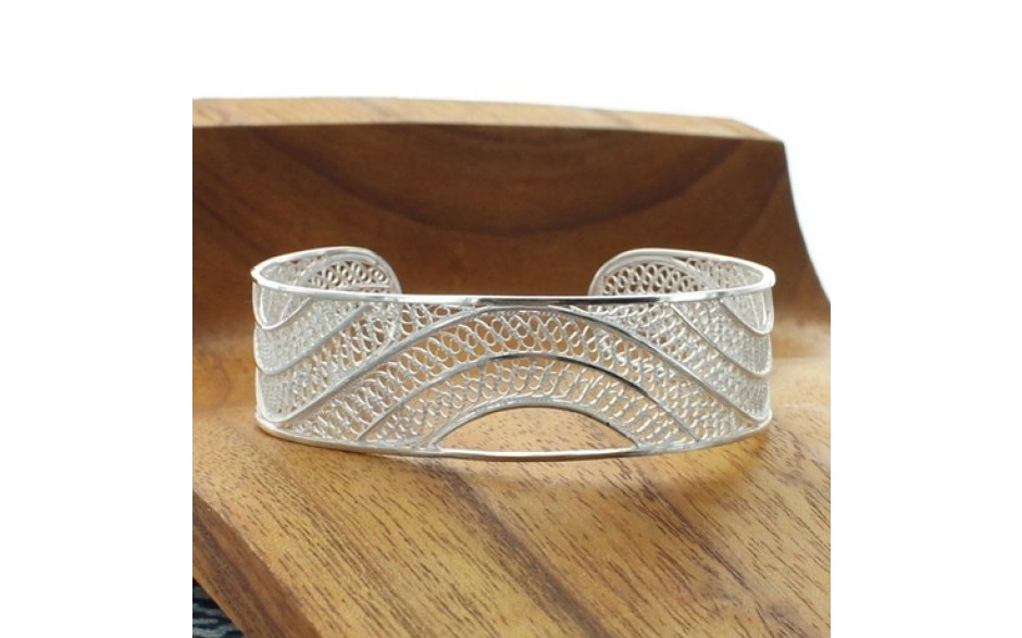 Wave Filigree Cuff