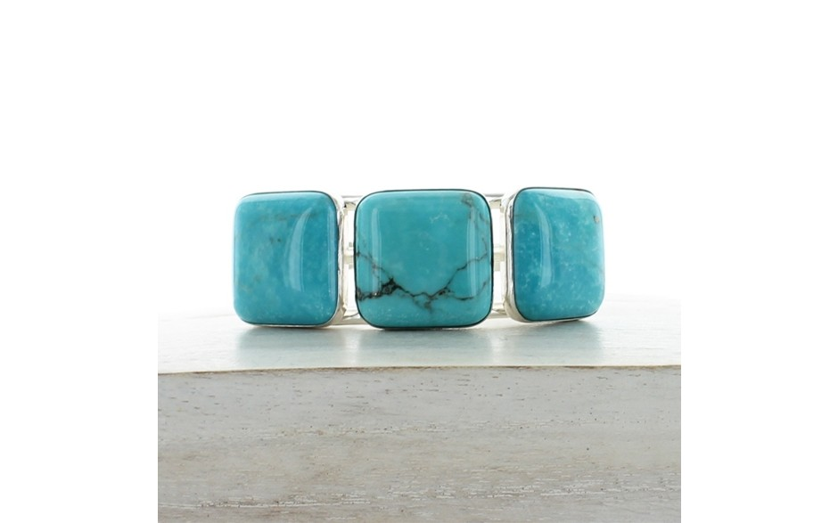 New Red Skin Turquoise Cuff
