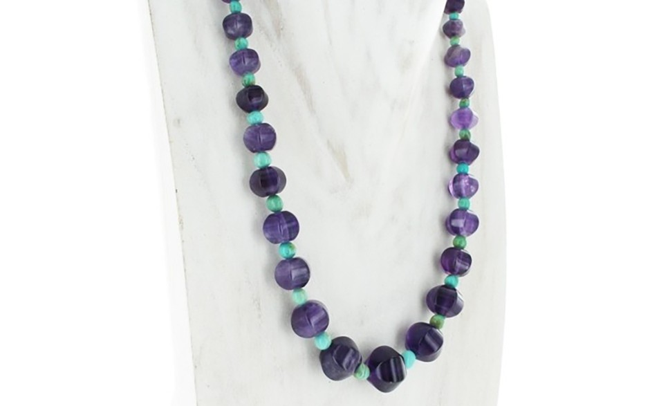 Amethyst & Turquoise Necklace