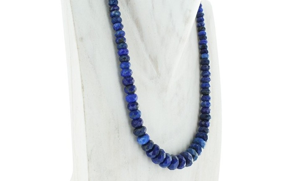 Faceted Lapis Necklace