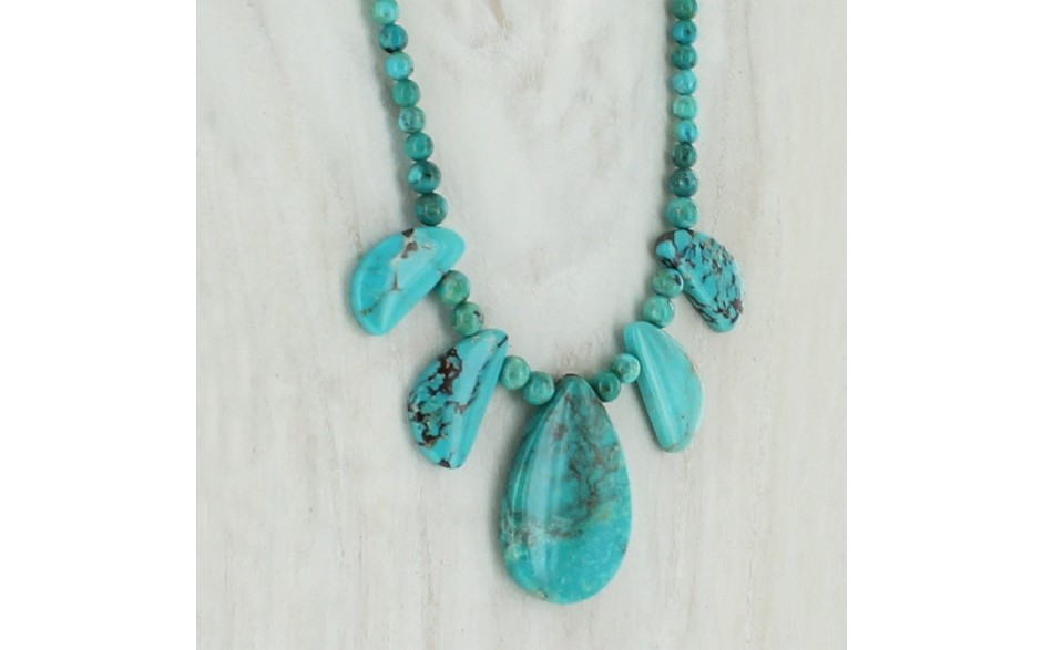 Seven Peaks Turquoise Necklace