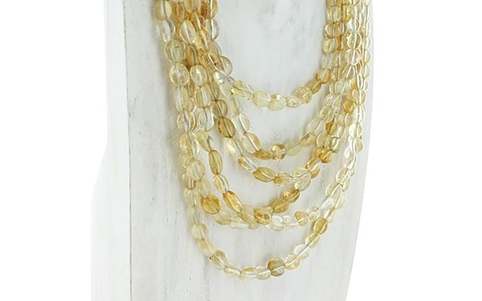 Citrine Six Strand Necklace