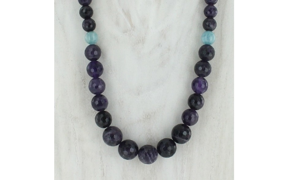 Amethyst & Aquamarine Necklace