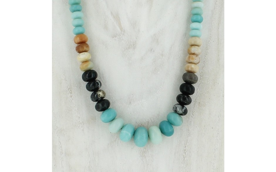 Multi Colored Amazonite Necklace