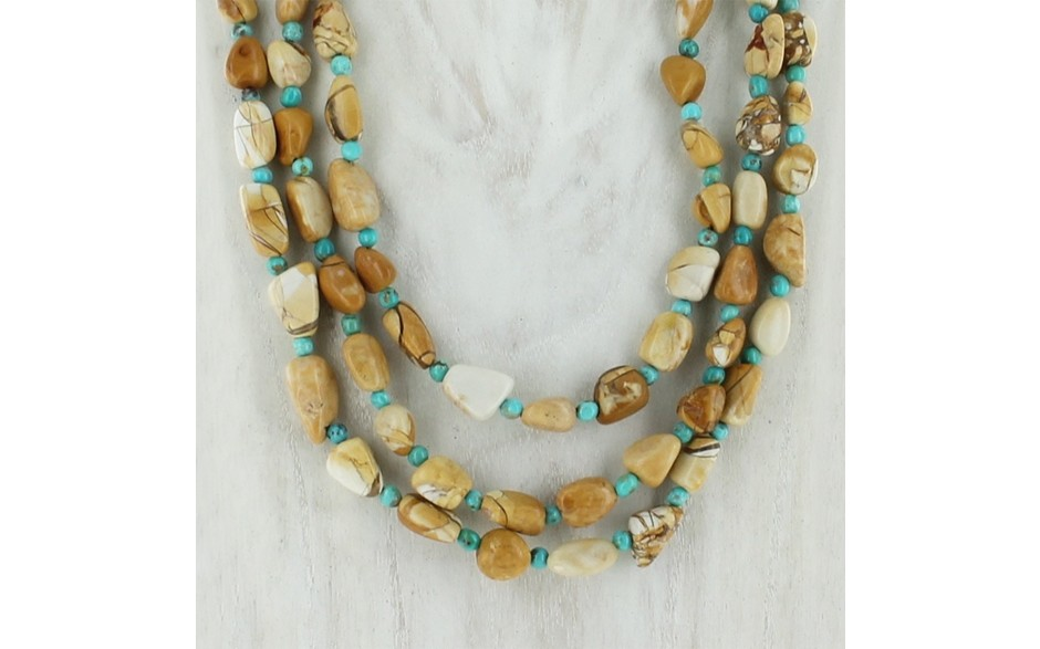 Brecciated Opal & Turquoise Necklace