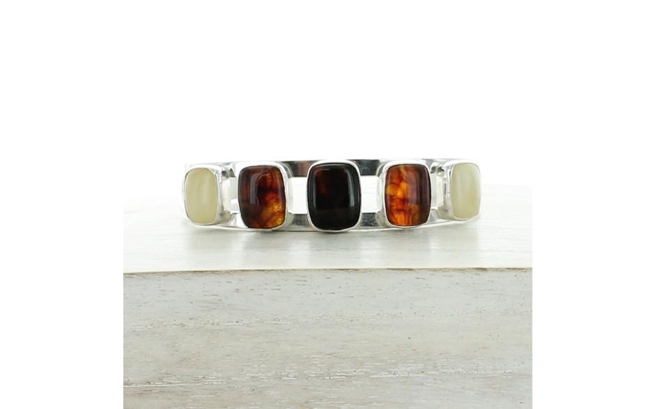 Multi Colored Amber Cuff