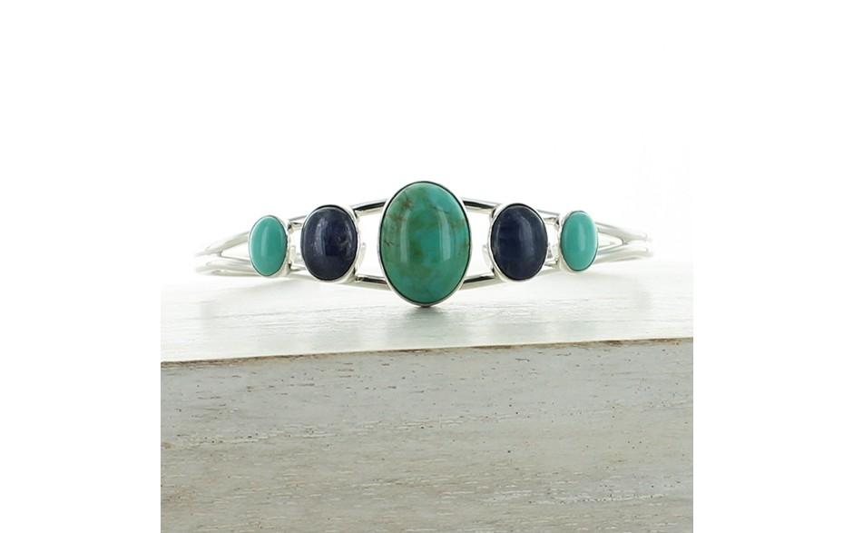 Turquoise & Tanzanite Cuff
