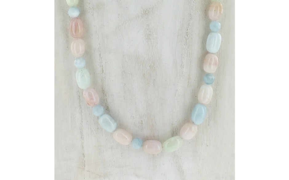 Aquamarine & Morganite Necklace