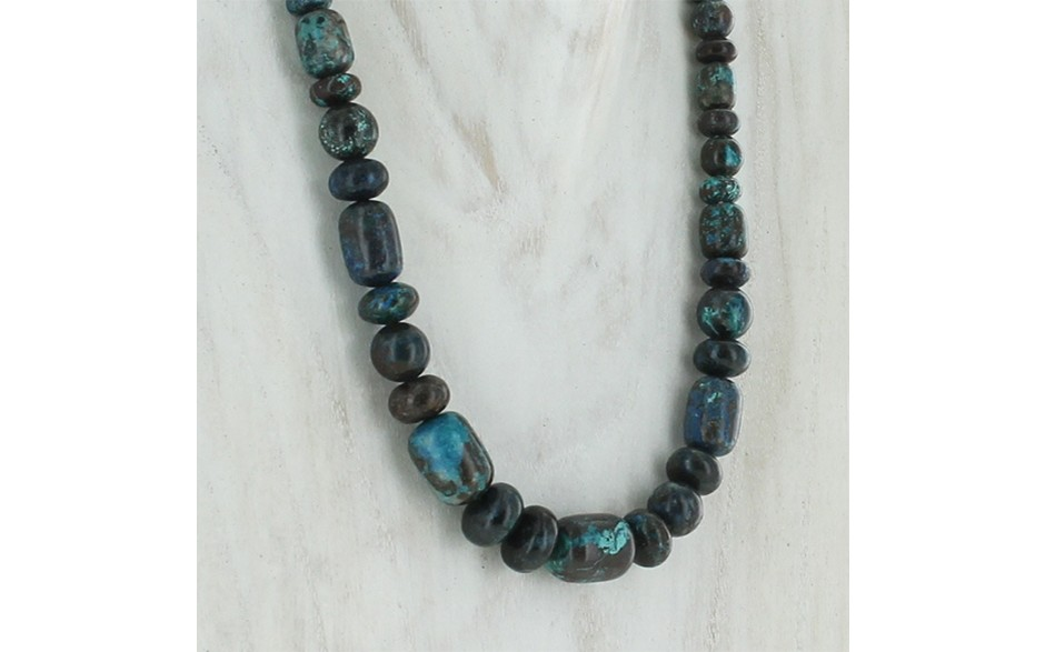 Blue Forest Beaded Necklace