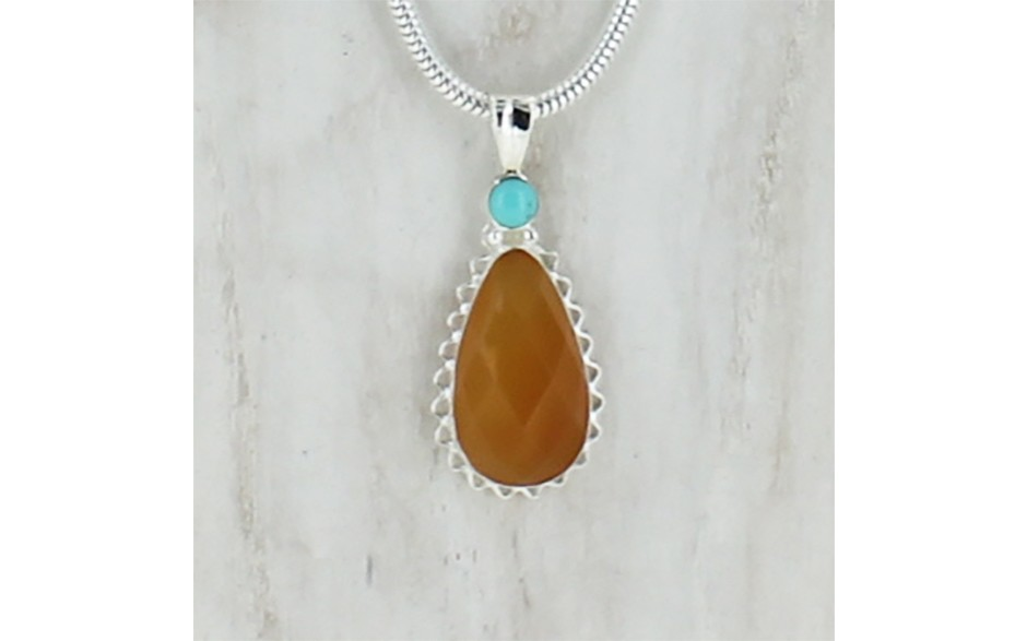 Turquoise and Mexican Opal Necklace