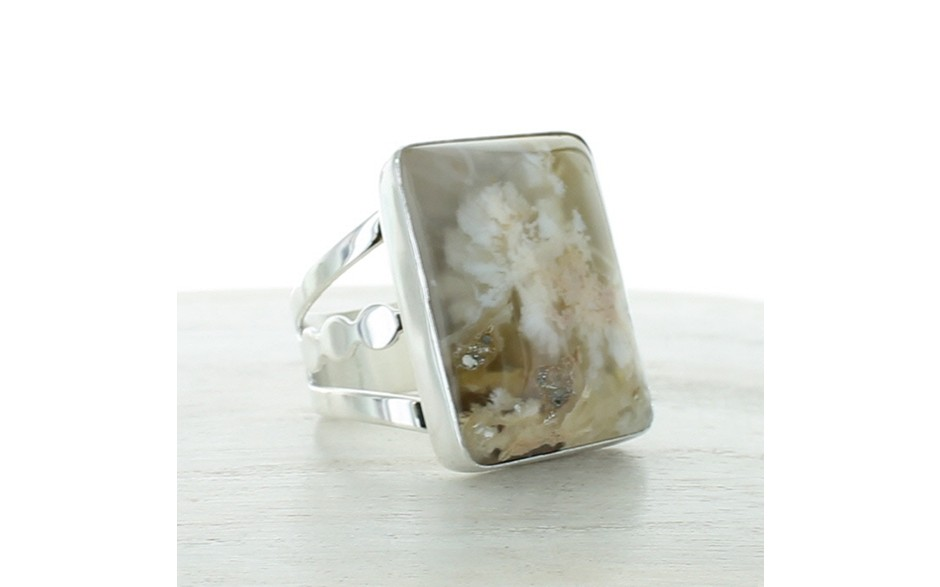 Graveyard Point Agate Ring Size 11