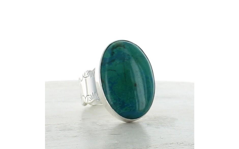 Chrysocolla Ring Size 6