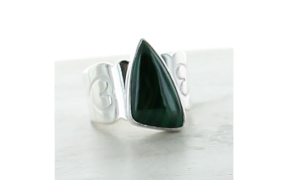 Malachite Ring Size 5