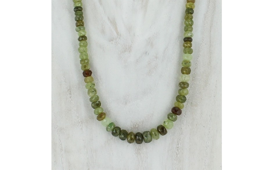 Faceted Grosular Garnet Necklace