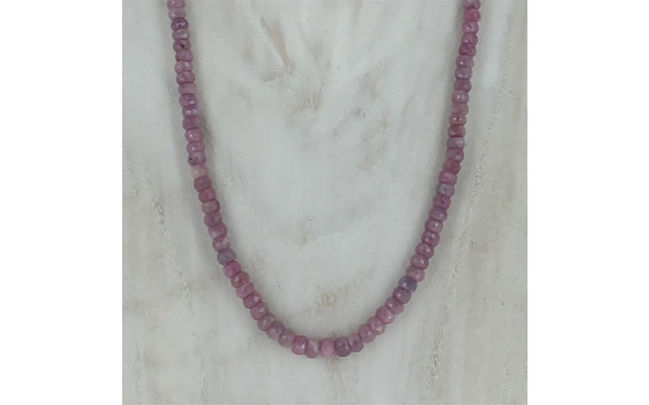 Dusty Rose Sapphire Necklace